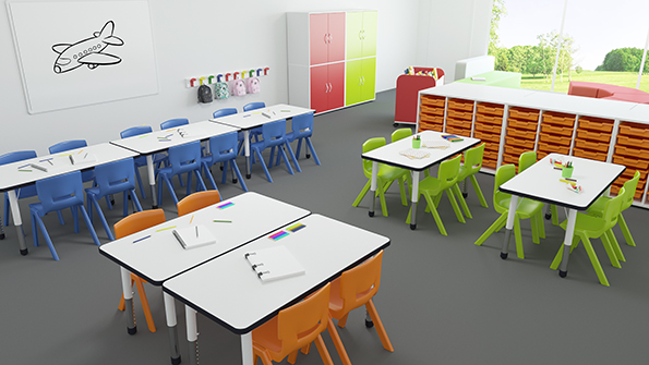 aula infantil aprendizaje cooperativo