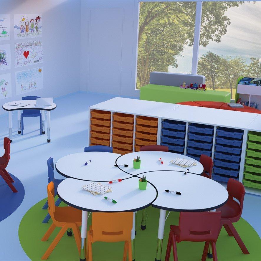 aula infantil escolar aprendizaje cooperativo