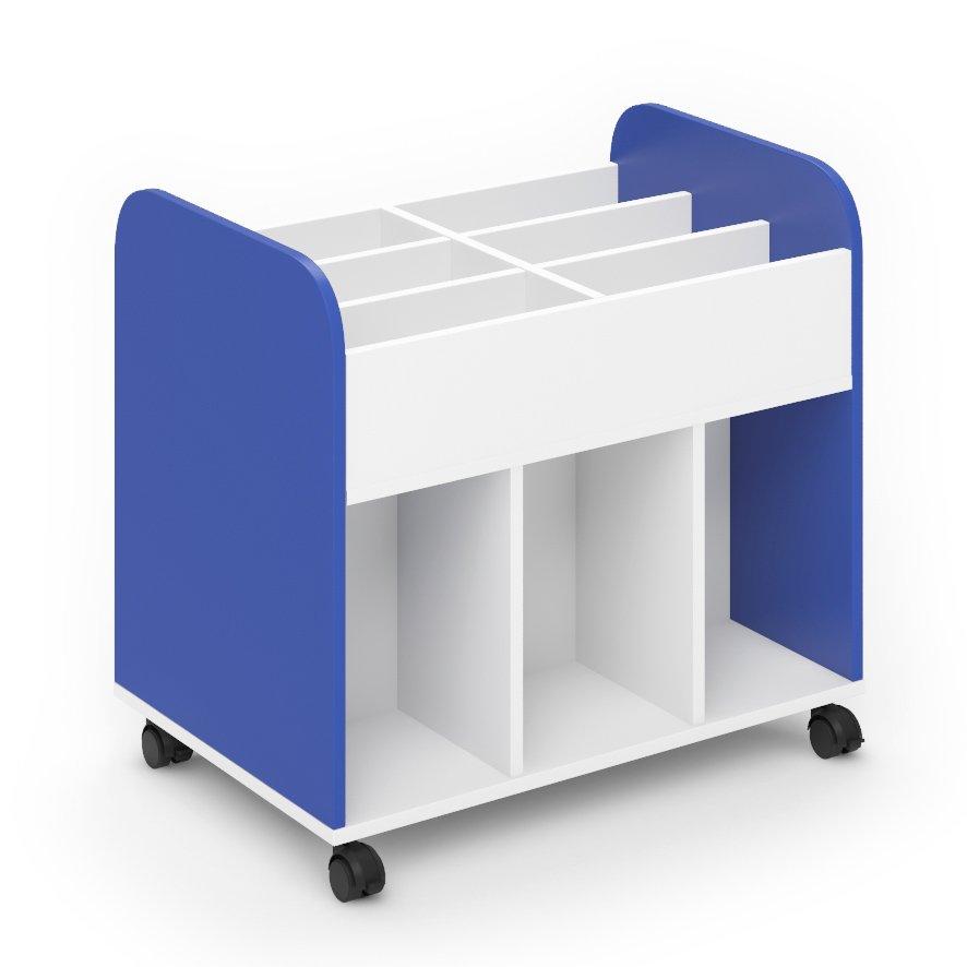 Carro librería escolar - Azul