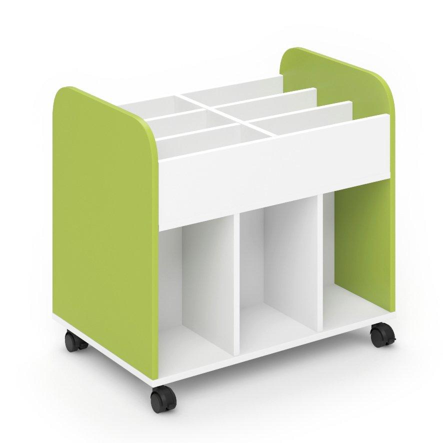 Carro librería escolar - Verde