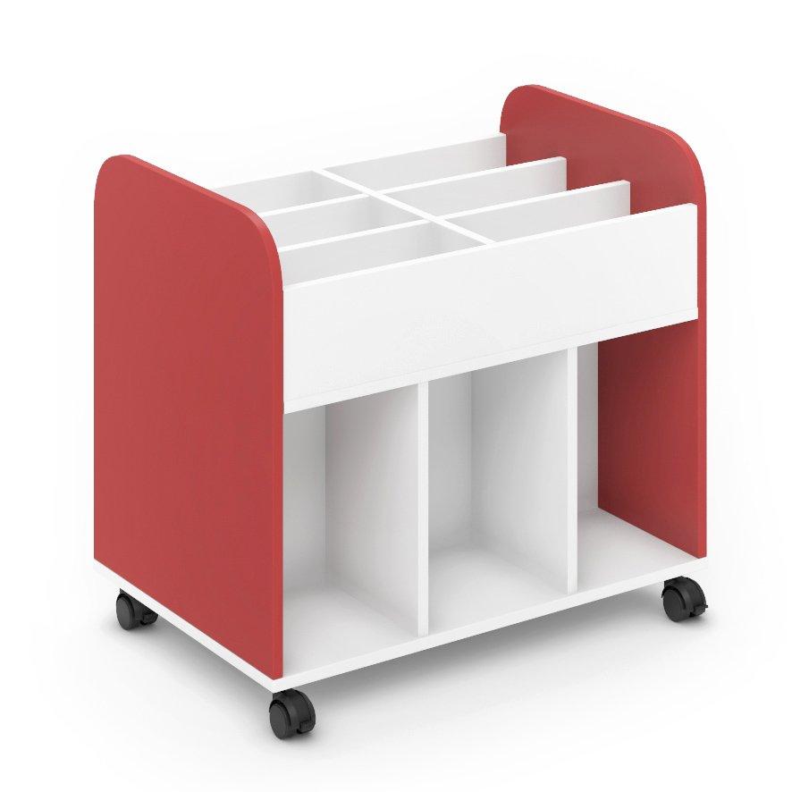 Carro librería escolar - Rojo