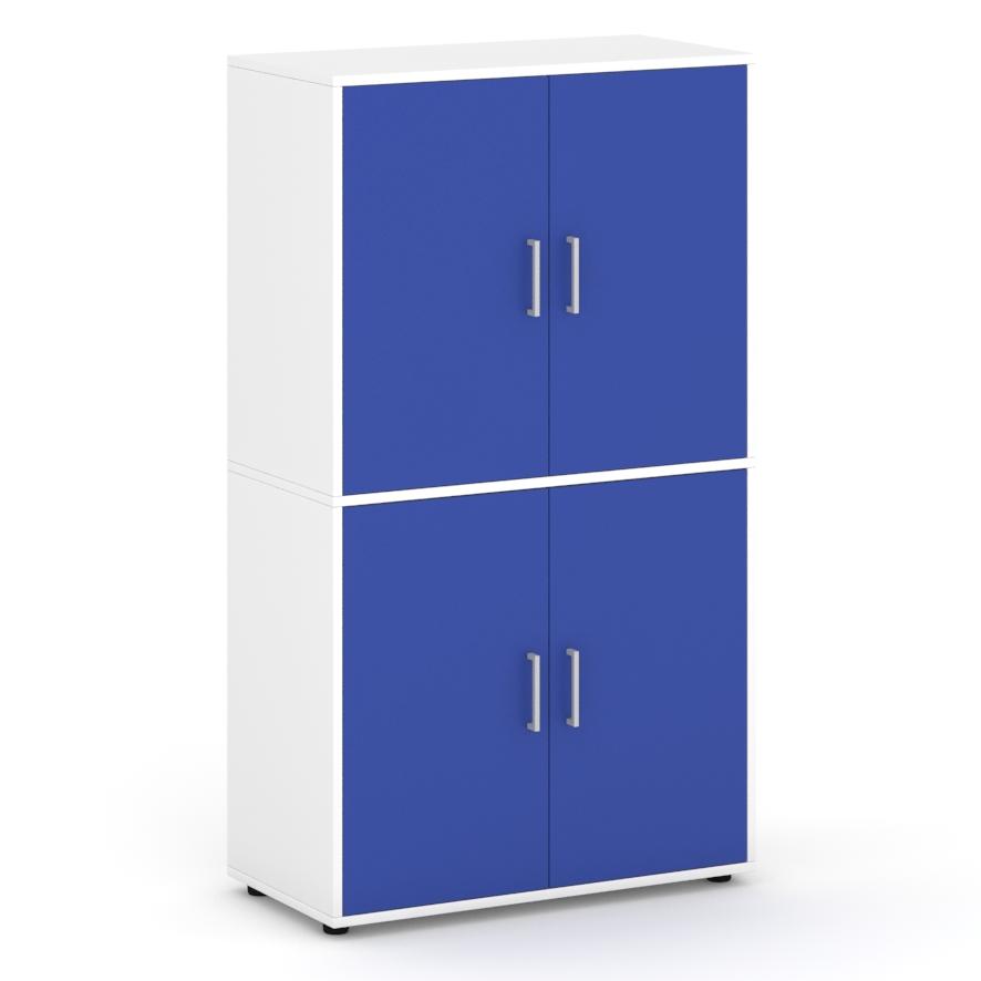 Armario-de-160-cm-de-altura-con-4-puertas-con-espacios-interiores-azul