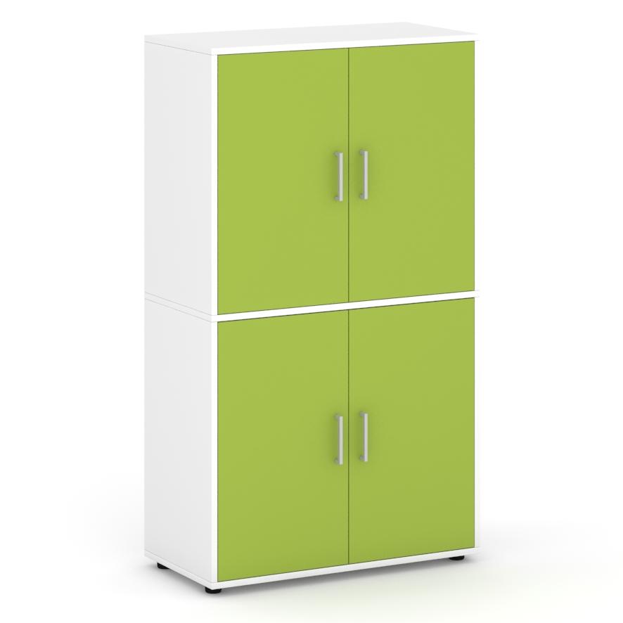 Armario-de-160-cm-de-altura-con-4-puertas-con-espacios-interiores-verde