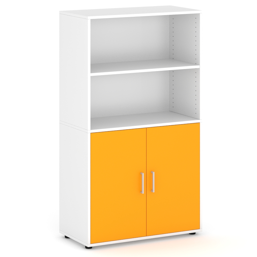 armario-de-160-cm-de-altura-con-2-espacios-parte-superior-2-puertas-parte-inferior-naranja
