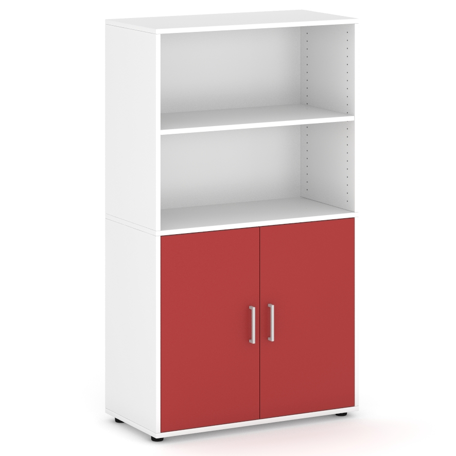 armario-de-160-cm-de-altura-con-2-espacios-parte-superior-2-puertas-parte-inferior-rojo