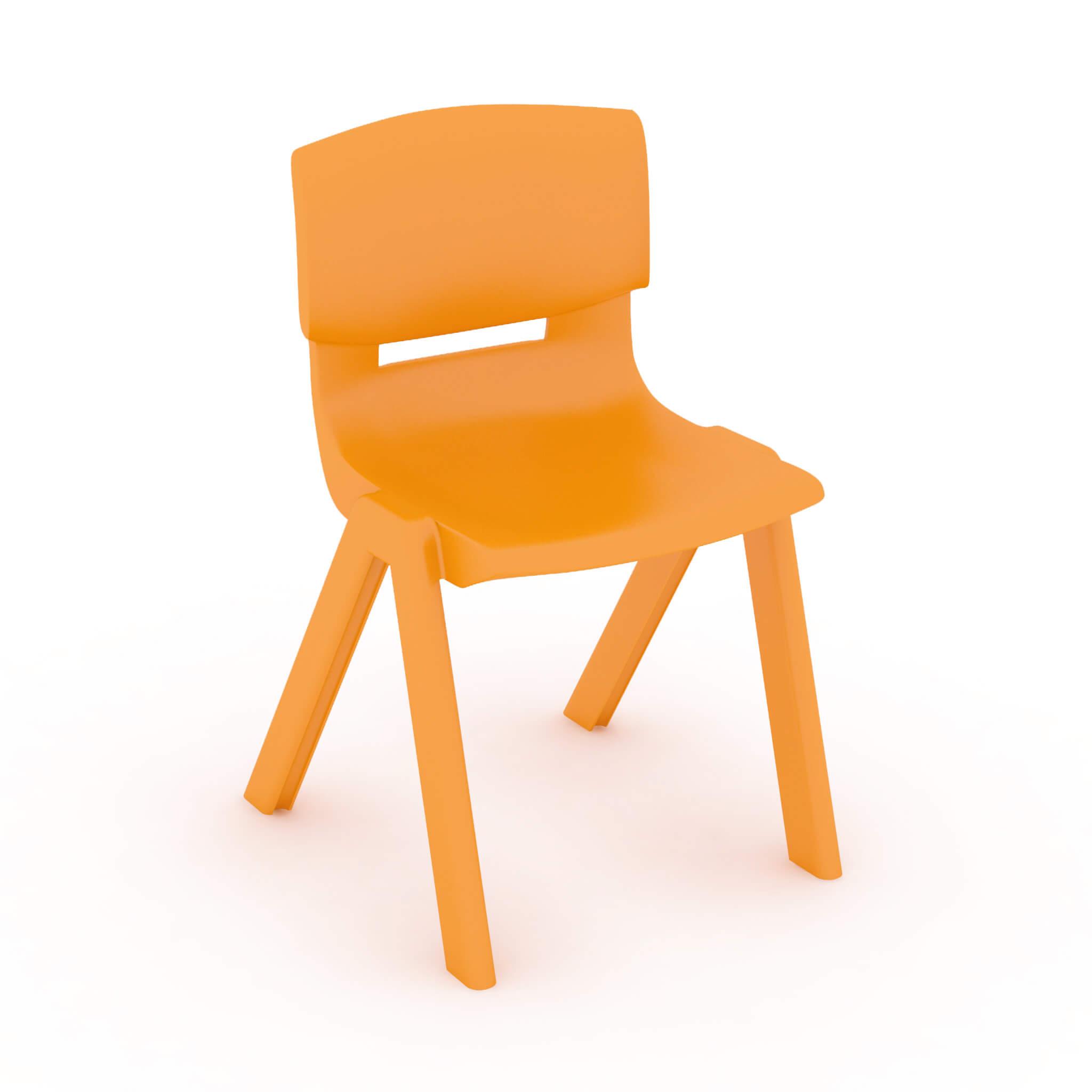 Silla escolar infantil naranja