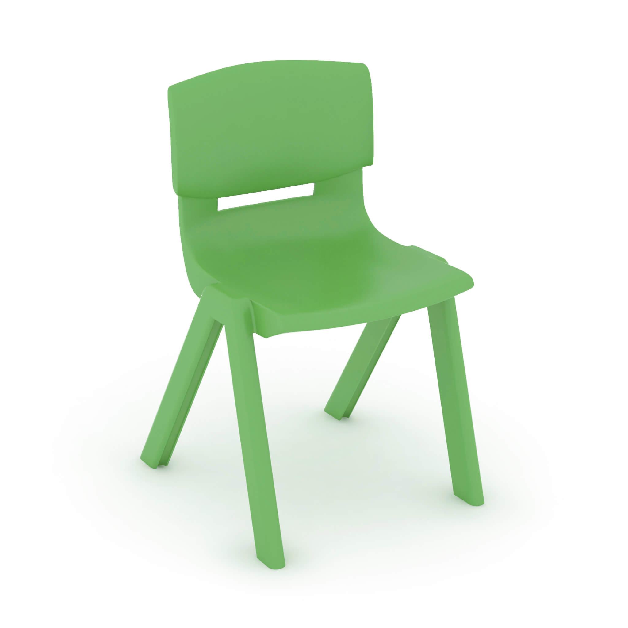 Silla escolar infantil verde