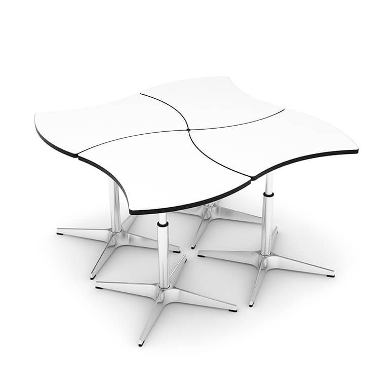 Mesa modular ajustable